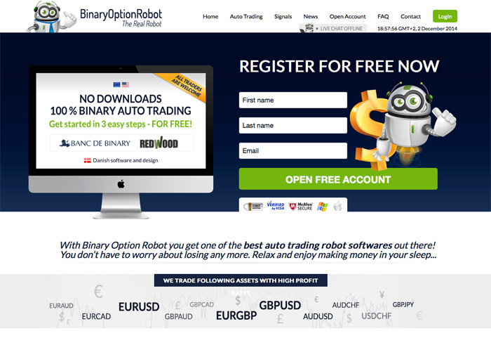 Binary Option Robot Screenshot