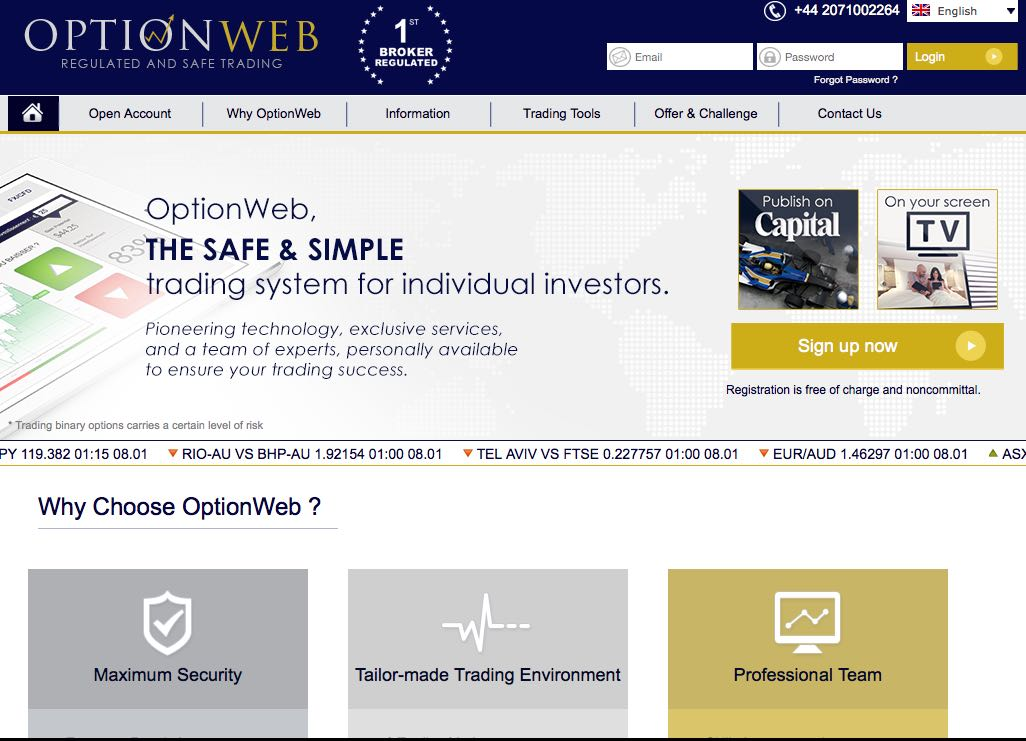 Optionweb_Screenshot