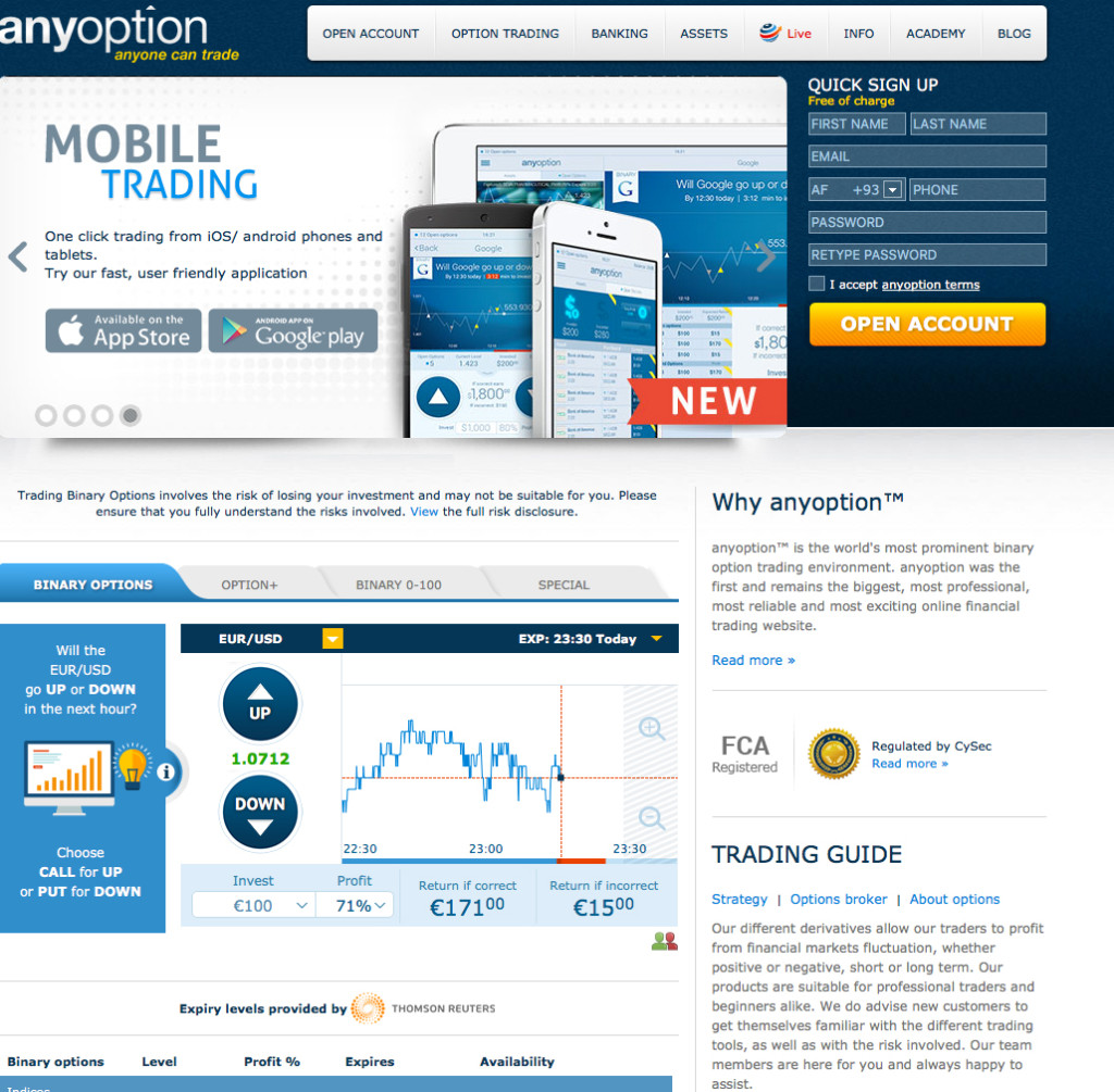 Binary Trading Anyoption