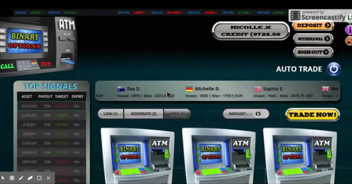 binary options atm software developers