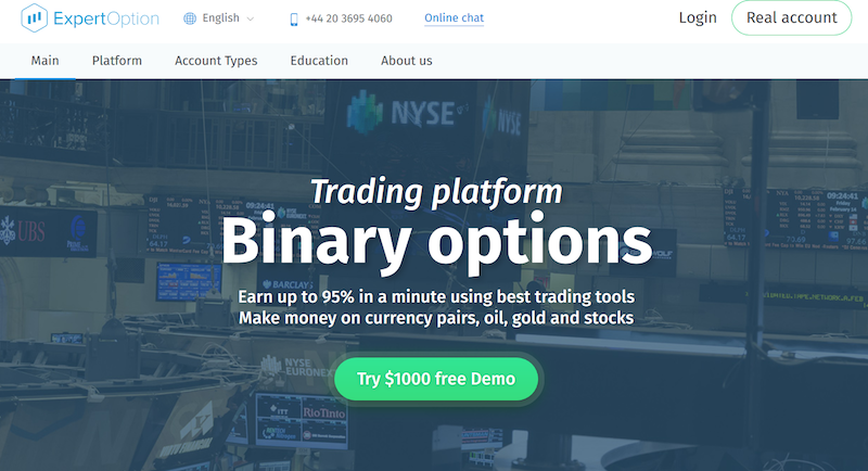 Expert Option Screnshot Trading Binary Options