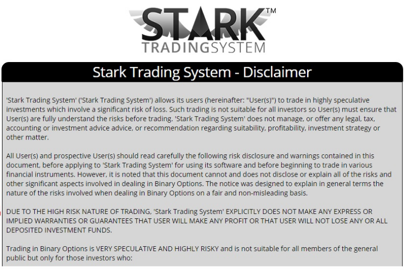 Stark trading system reviews