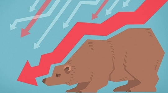Stock Market Bear Arrow