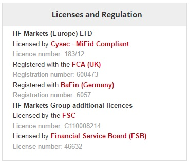 Regulations and Licenses