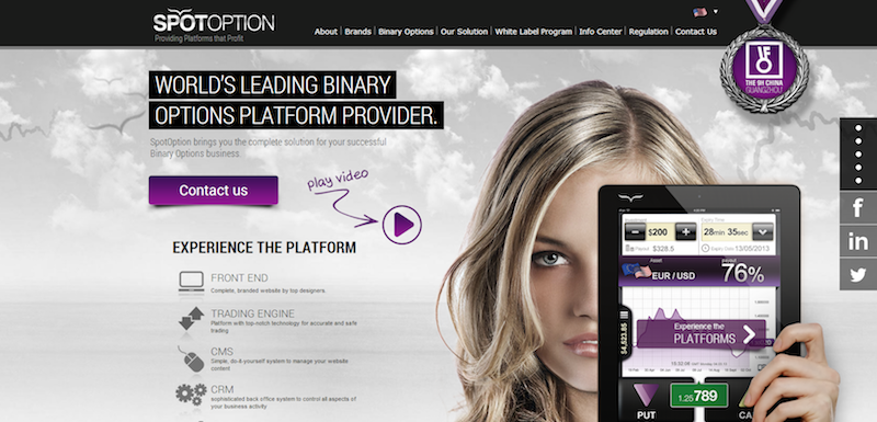 spotoption homepage