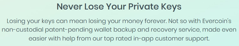 Never Lose Private Keys